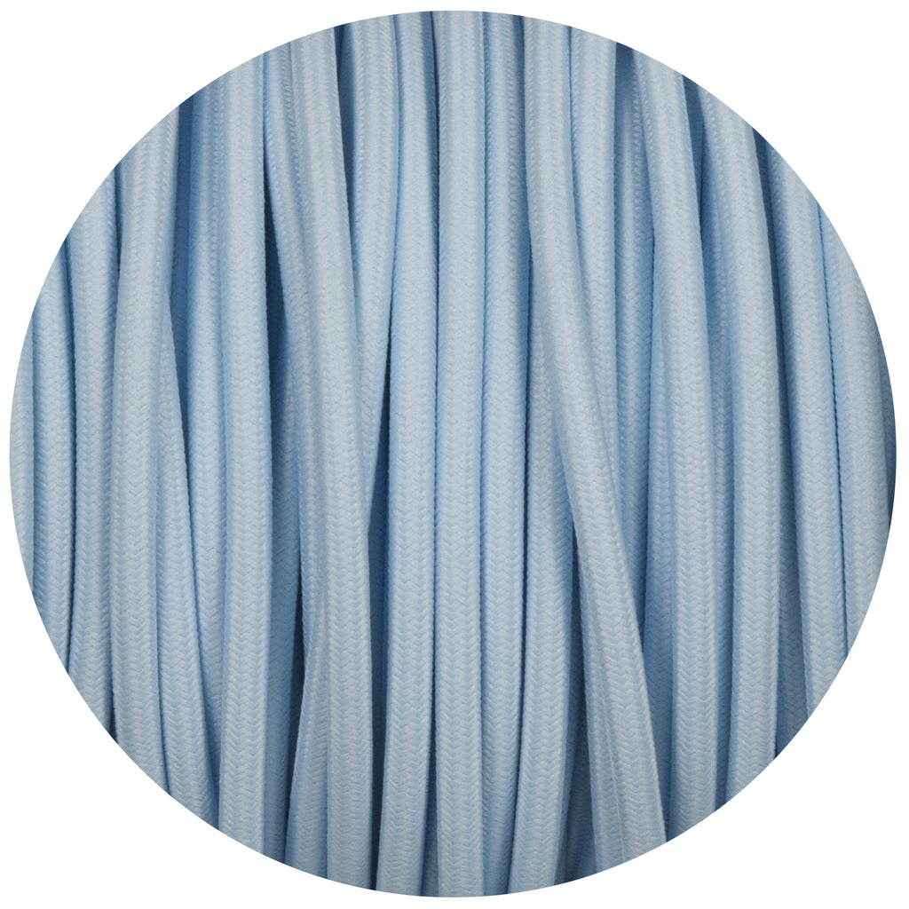 Baby Blue Round Fabric Braided Cable