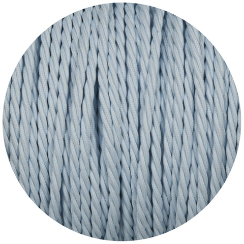 Baby Blue Twisted Fabric Braided Cable