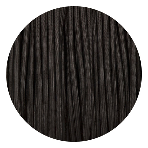 Black Round Fabric Braided Cable