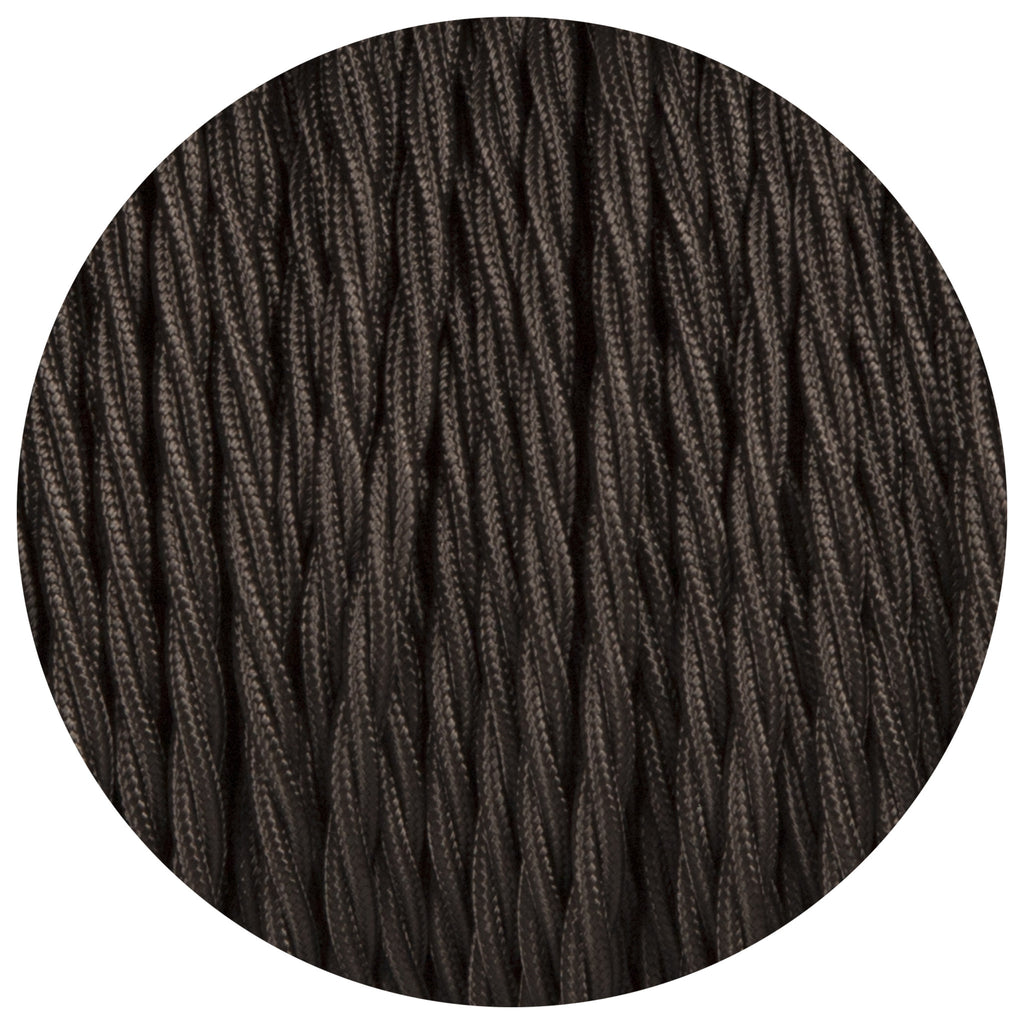 Black Twisted Fabric Braided Cable