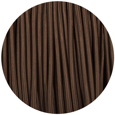 Brown Round Fabric Braided Cable
