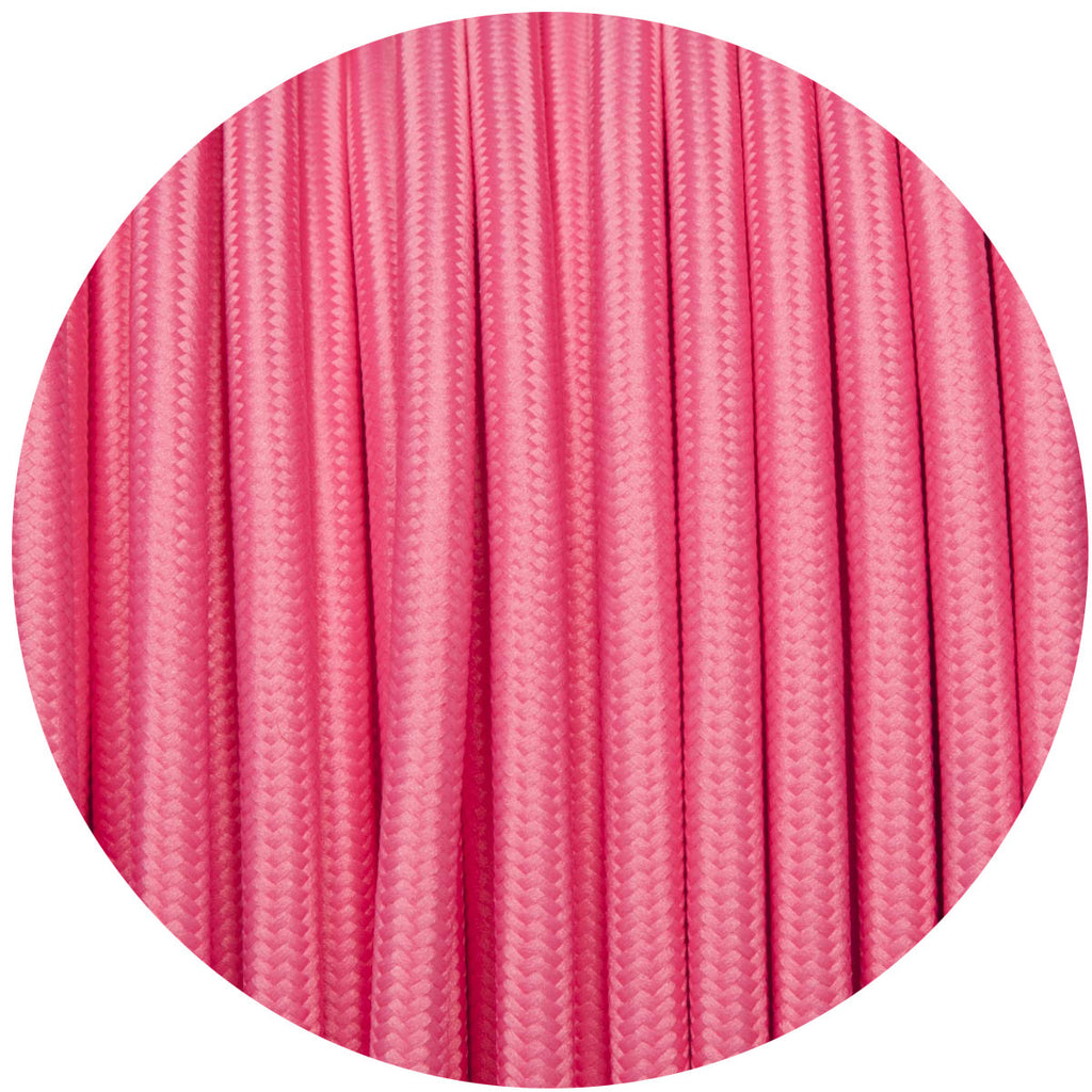 Candy Pink Round Fabric Cable