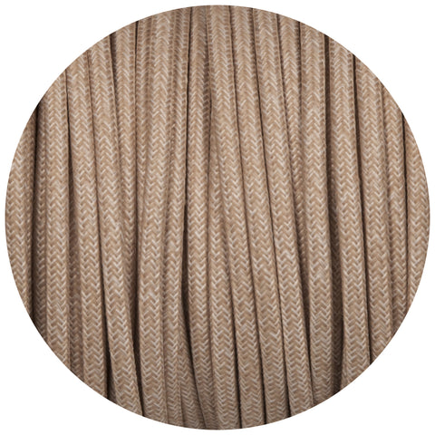 Canvas Linen Round Fabric Braided Cable