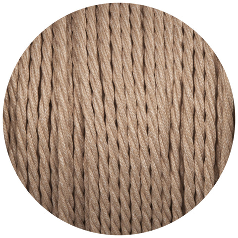 Canvas Linen Twisted Fabric Braided Cable