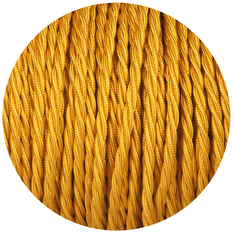 Celtic Gold Twisted Fabric Braided Cable
