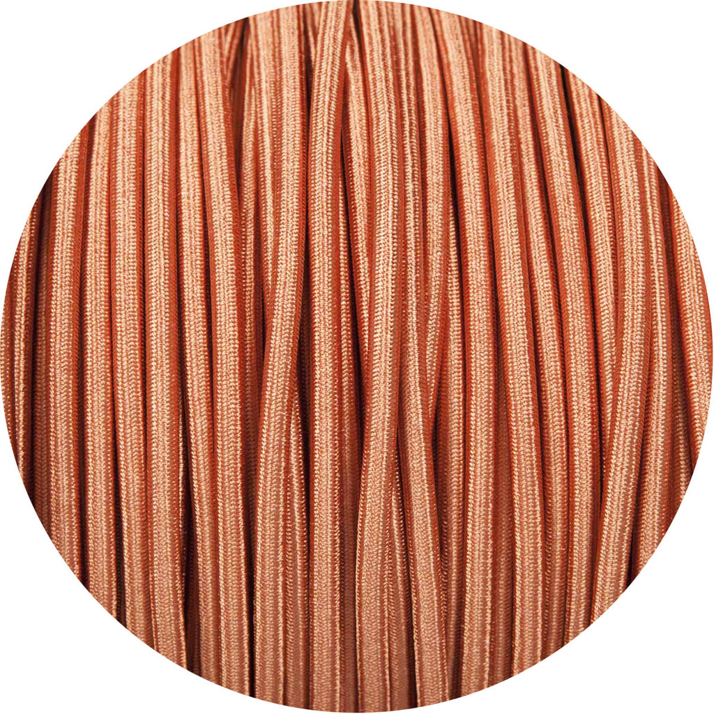Copper Coloured Round Fabric Braided Cable