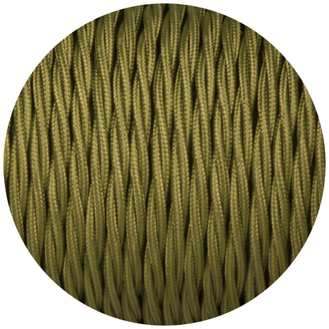 Cyprus Green Twisted Fabric Braided Cable