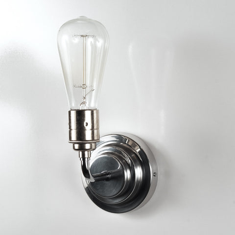 Dalton Nickel Deco Fixed Wall Light