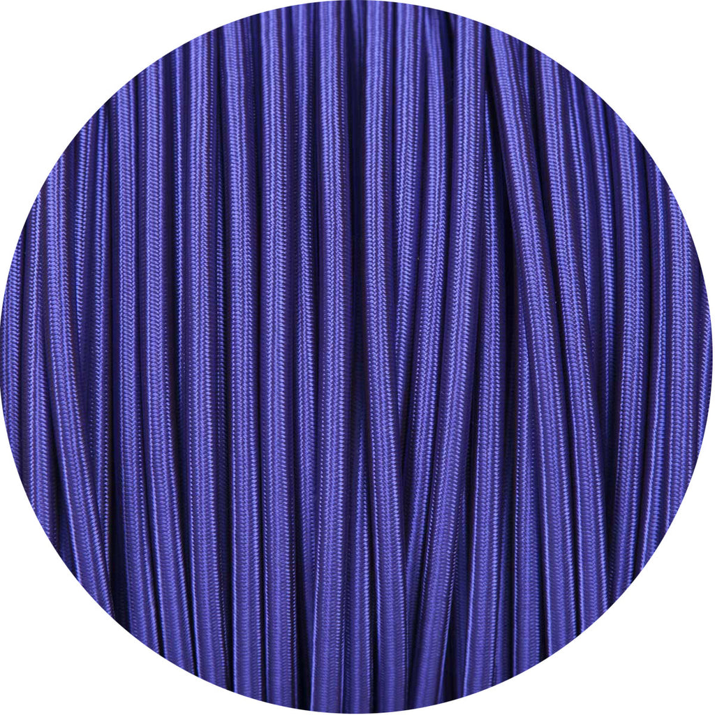 Deep Purple Round Fabric Braided Cable