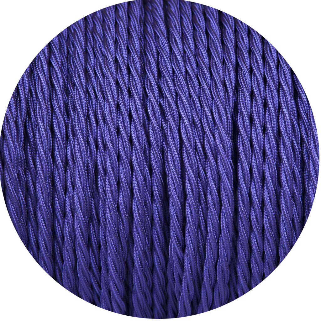 Deep Purple Twisted Fabric Braided Cable