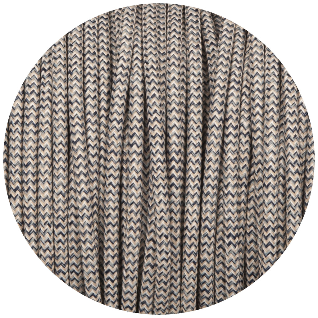 Denim & Linen Canvas Round Fabric Braided Cable