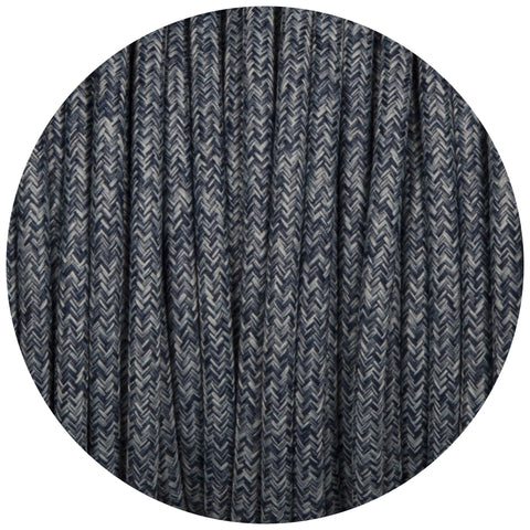 Denim Canvas Round Fabric Braided Cable