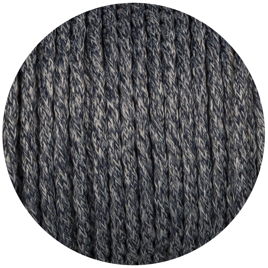 Denim Canvas Twisted Fabric Braided Cable
