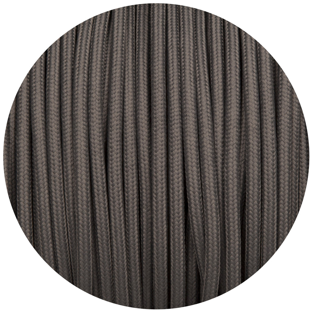 Dusk Grey Round Fabric Braided Cable