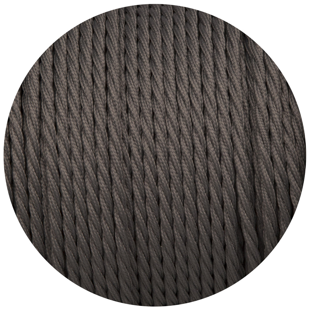 Dusk Grey Twisted Fabric Braided Cable