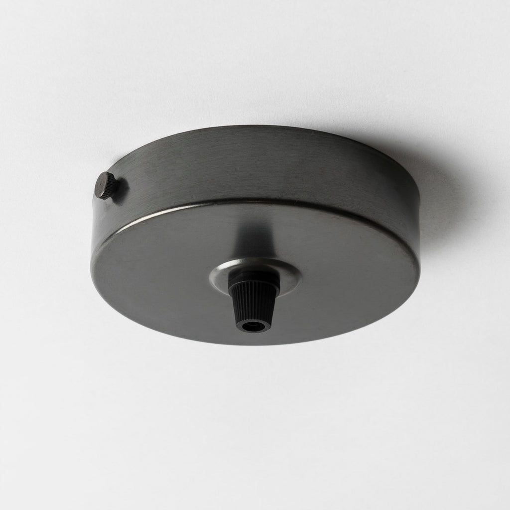 Bronze 100mm Steel Ceiling Rose - All Outlet Options