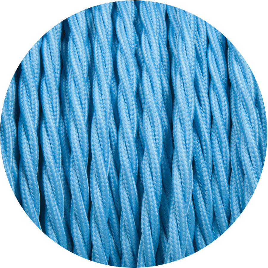 Electric Blue Twisted Fabric Cable