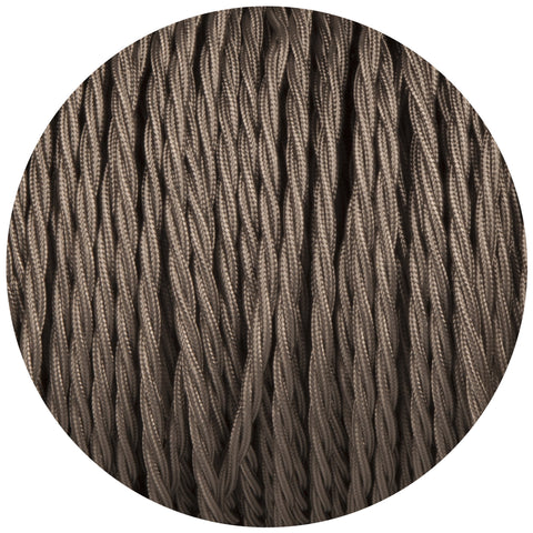 Elephant Grey Twisted Fabric Braided Cable