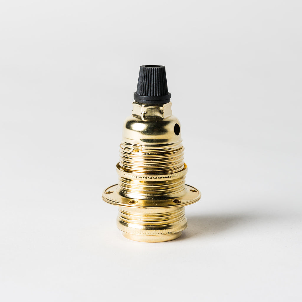 E14 Brass Lampholder with grip