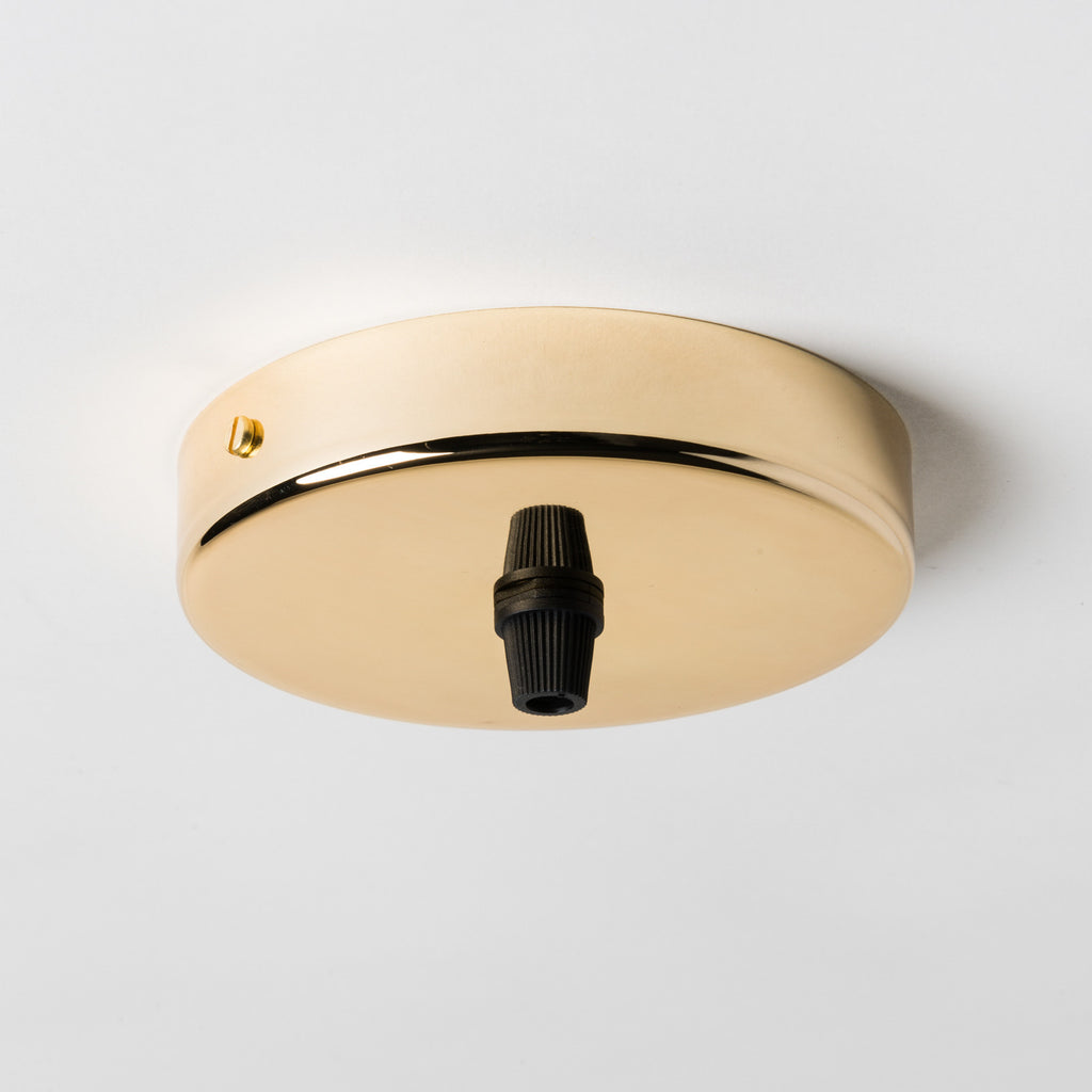 Brass 100mm Ceiling Rose - All Outlet Options