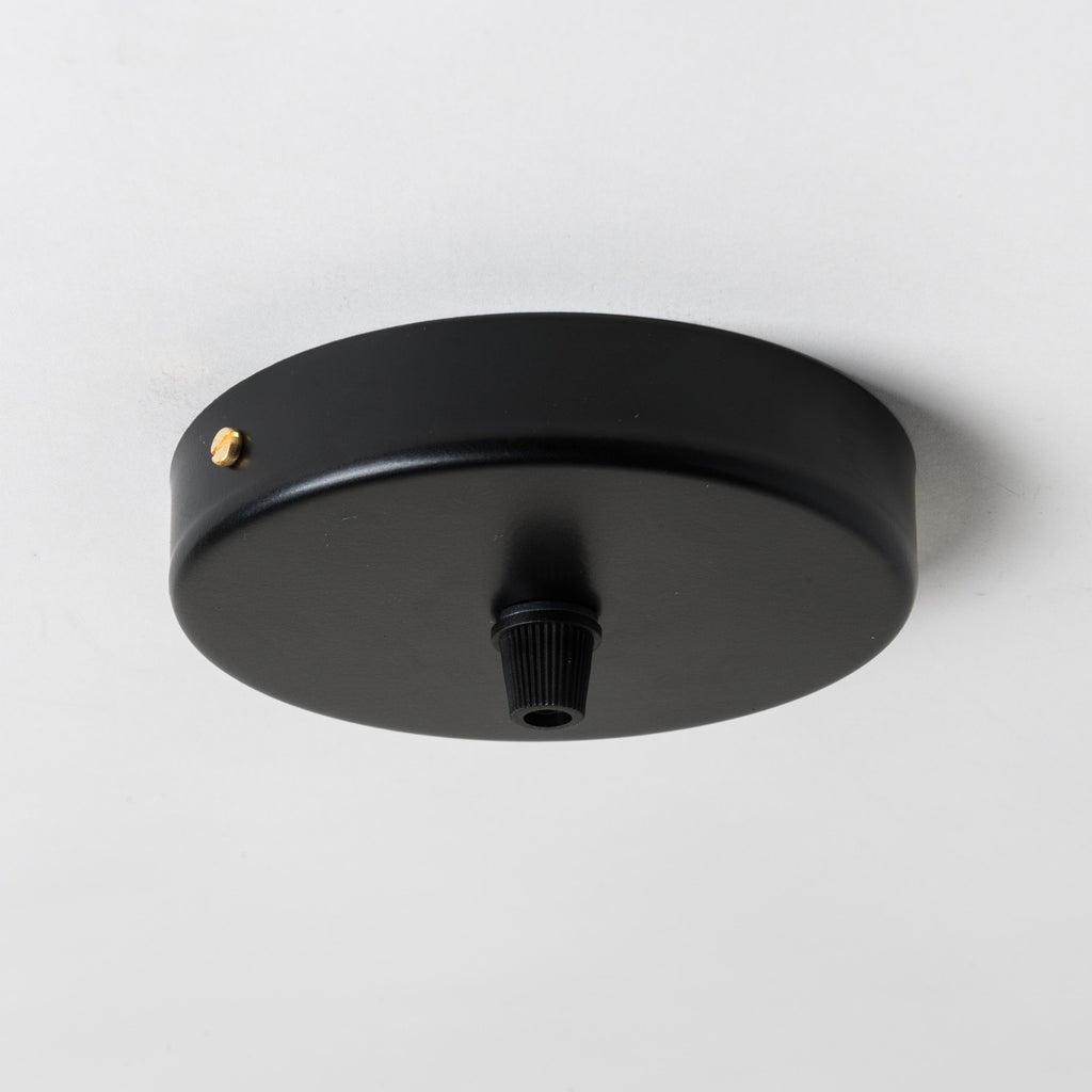 Black Steel 100mm Ceiling Rose - All Outlet Options