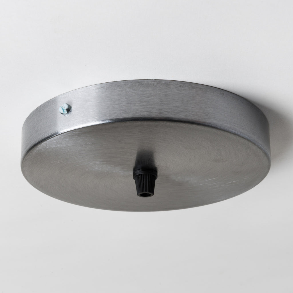 Brushed Steel 160mm Ceiling Rose - All Outlet Options