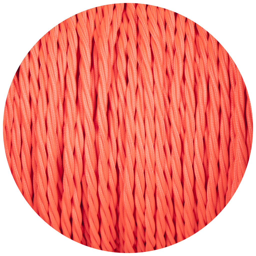 Flouro Pink Twisted Fabric Braided Cable