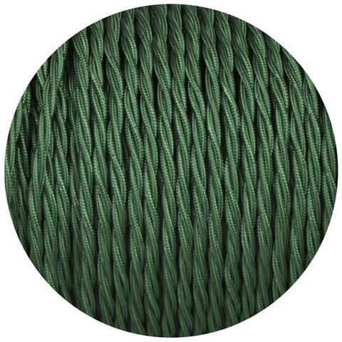 Forest Green Twisted Fabric Braided Cable