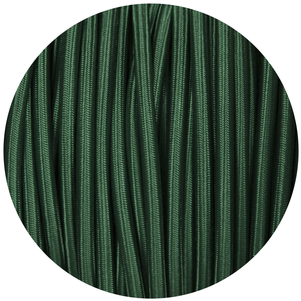 Forest Green Round Fabric Braided Cable