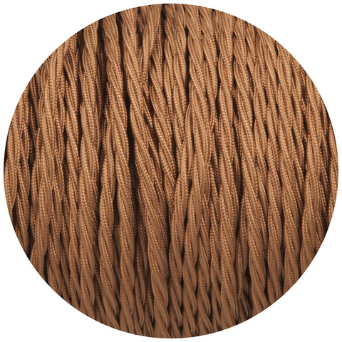 Havanna Gold Twisted Fabric Braided Cable