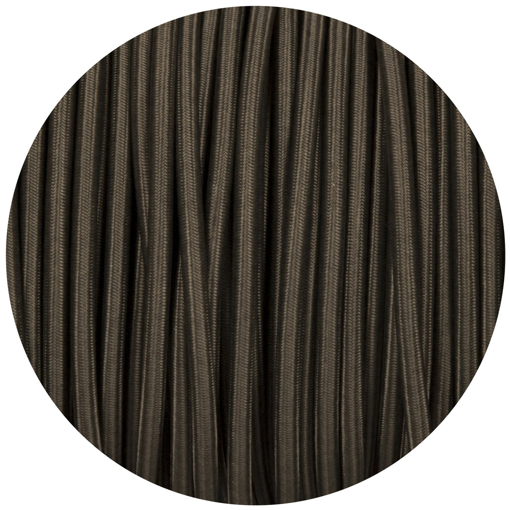 Khaki Round Fabric Braided Cable
