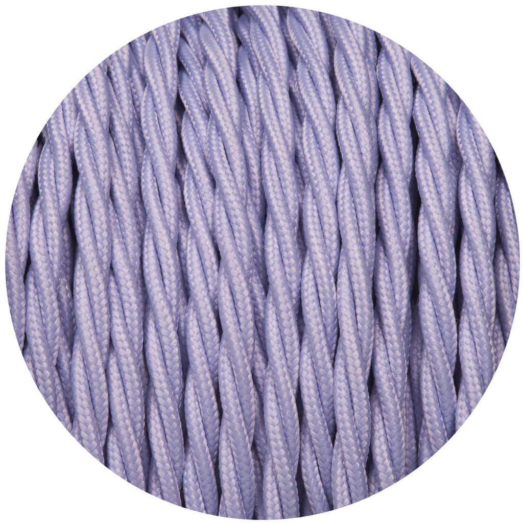 Light Purple Twisted Fabric Cable