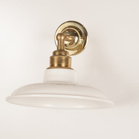 Marvin White & Brass Wall Light