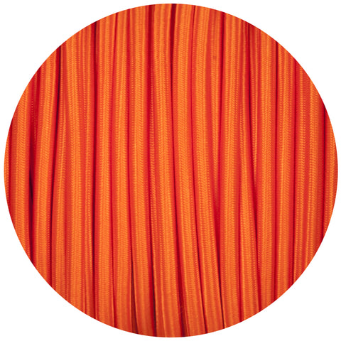 Matt Orange Round Fabric Braided Cable