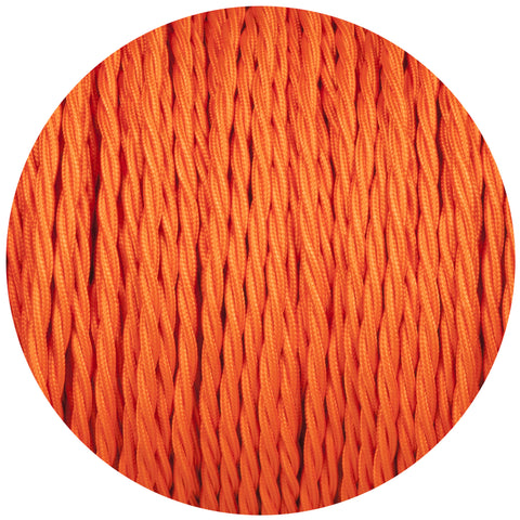 Matt Orange Twisted Fabric Braided Cable