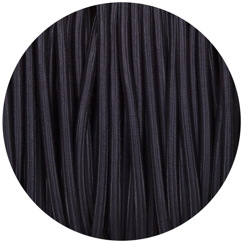 Navy Blue Round Fabric Braided Cable