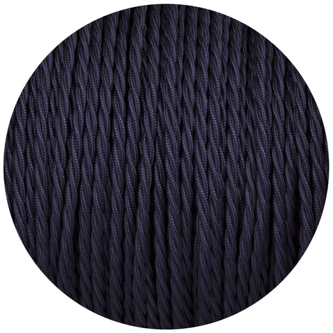 Navy Blue Twisted Fabric Braided Cable