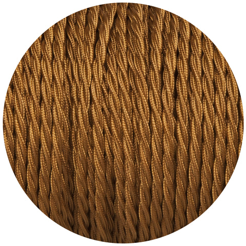Old Gold Twisted Fabric Braided Cable