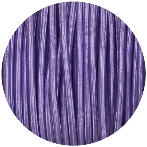 Purple Round Fabric Braided Cable