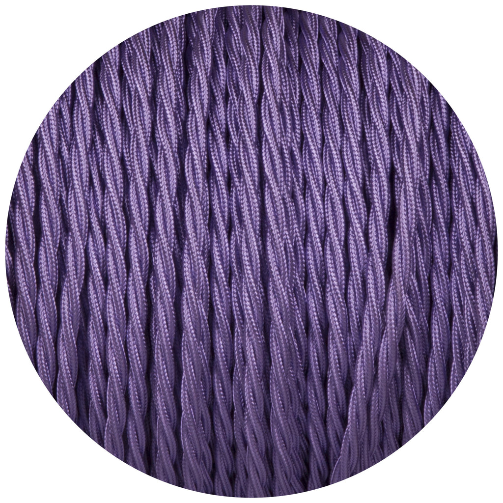 Purple Twisted Fabric Braided Cable