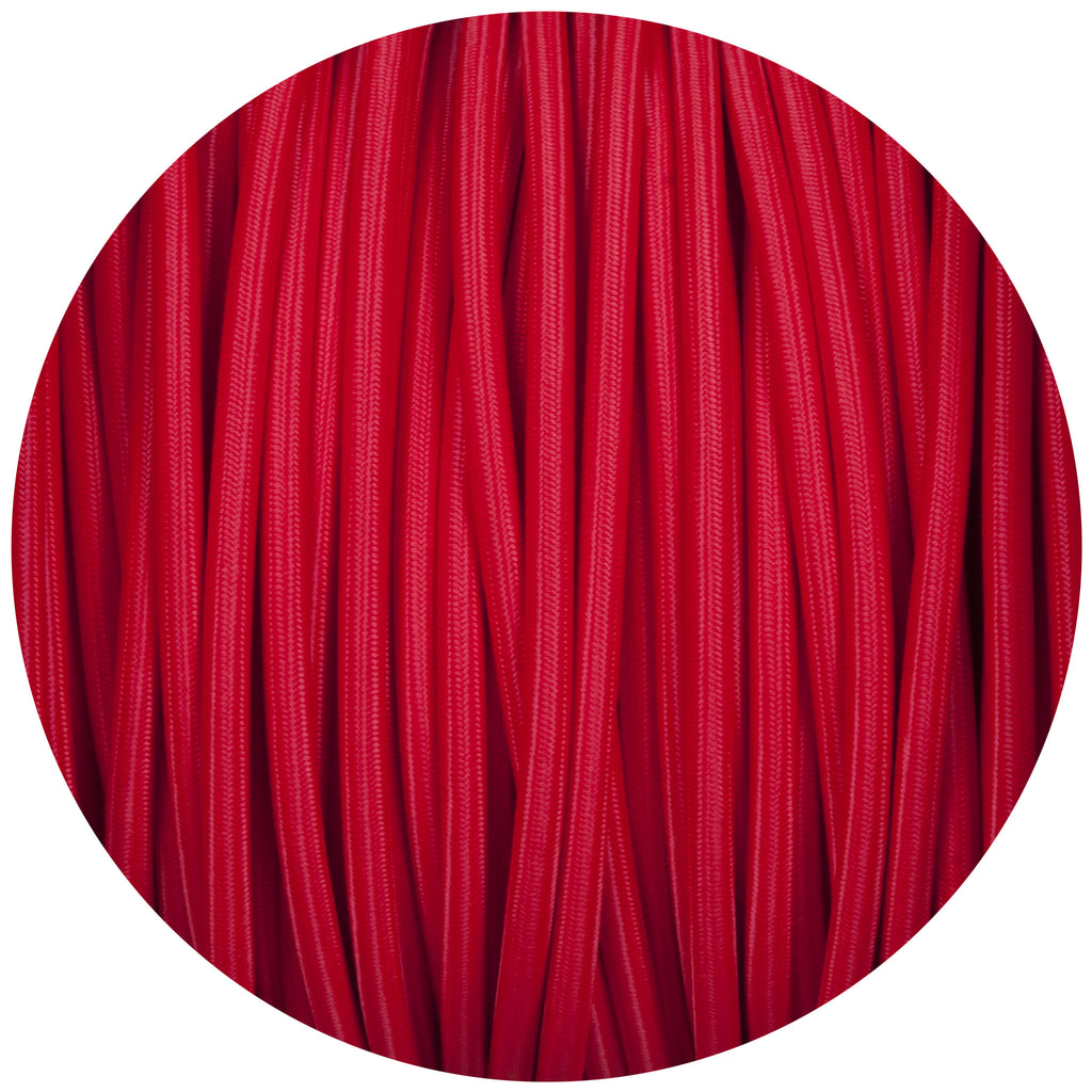 Red Round Fabric Braided Cable
