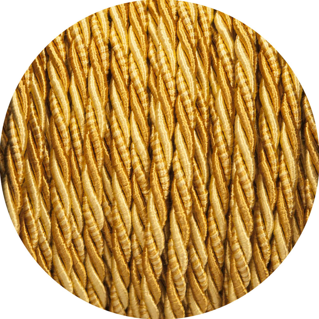 Rich Golds Velvet Twisted Fabric Cable