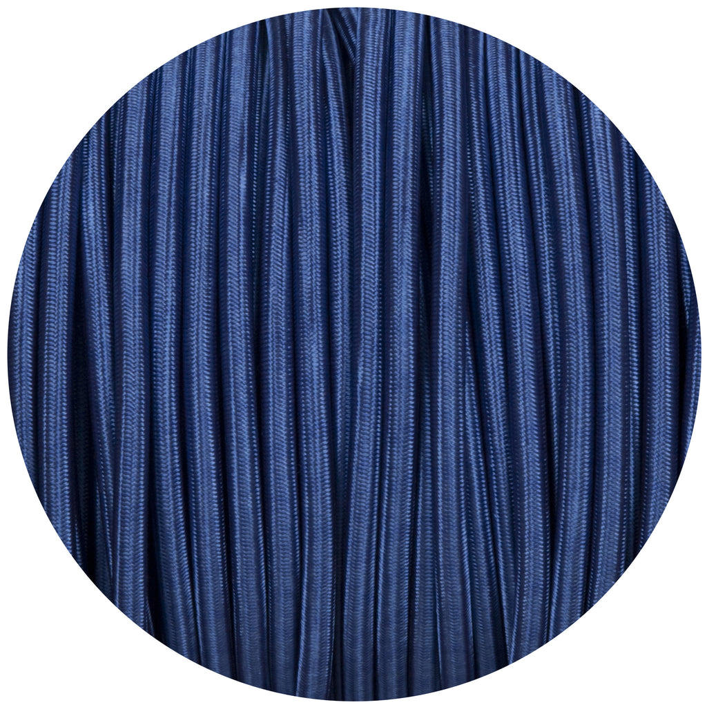 Royal Blue Round Fabric Braided Cable