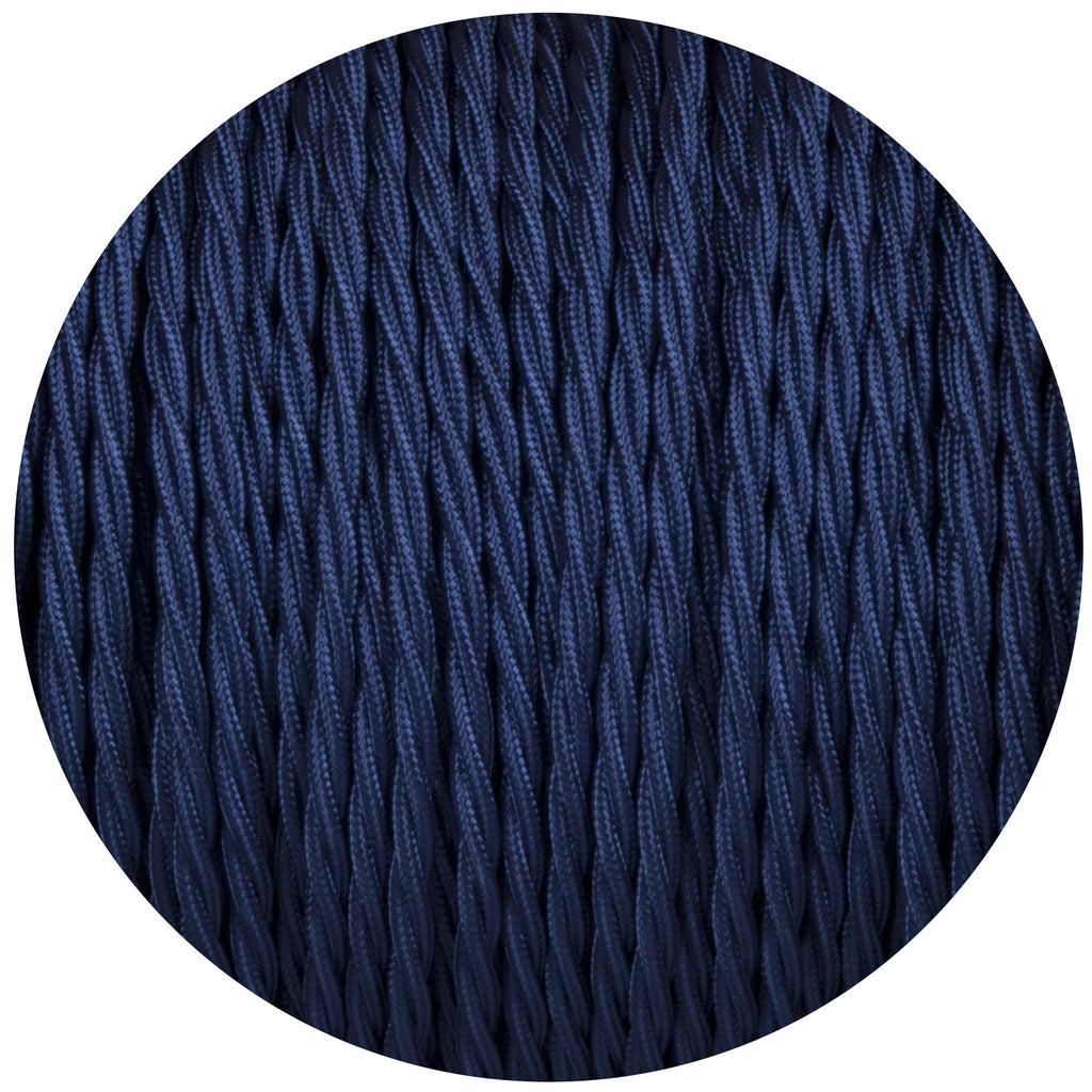 Royal Blue Twisted Fabric Braided Cable