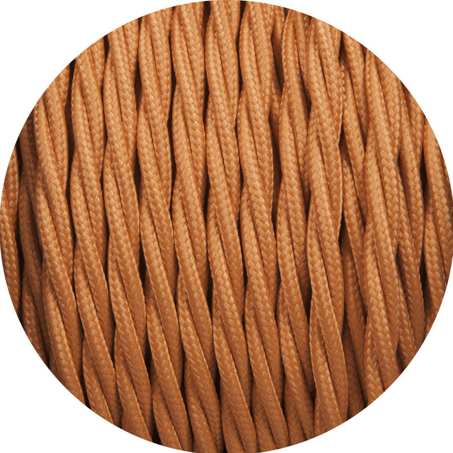 Rust Brown Twisted Fabric Cable