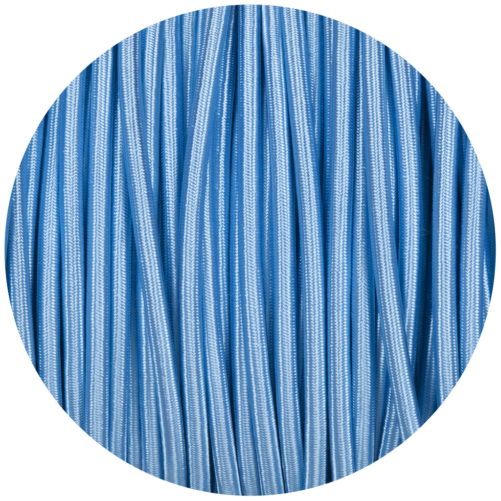 Sky Blue Round Fabric Braided Cable