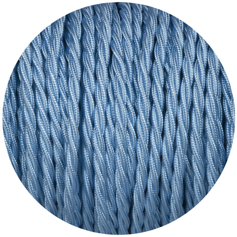 Sky Blue Twisted Fabric Braided Cable