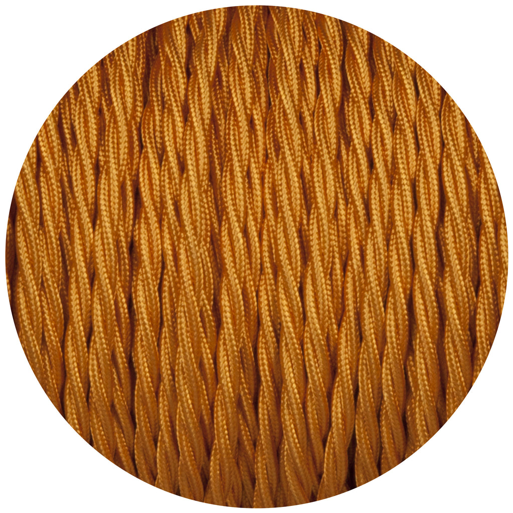 Souci Gold Twisted Fabric Braided Cable
