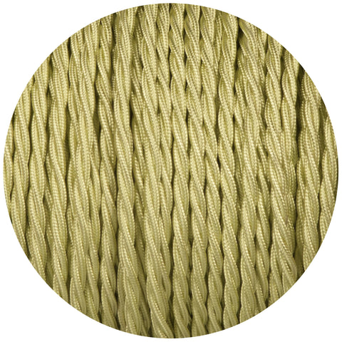 Tisane Light Green Twisted Fabric Braided Cable