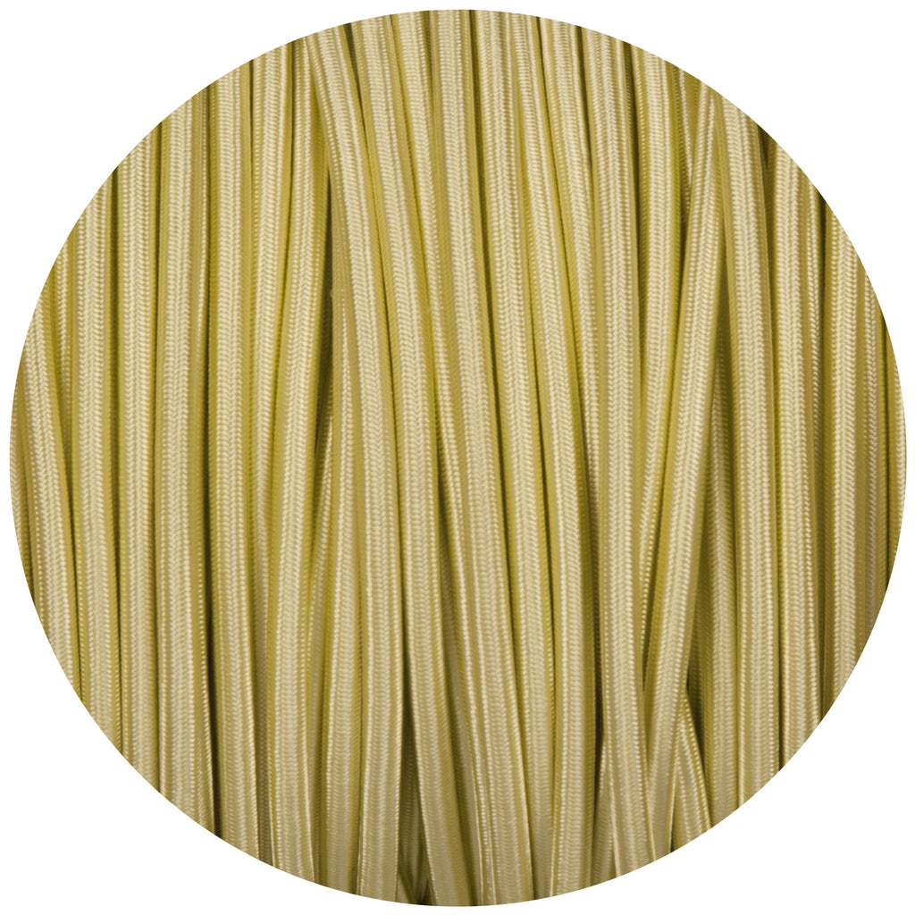 Tisane Light Green Round Fabric Braided Cable